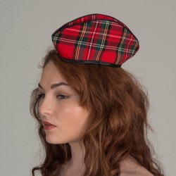 Tartan check forage cap - side