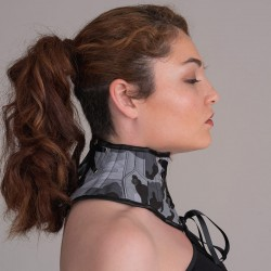 Urban camouflage neck corset with side lapels - flank