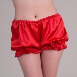 Red satin bloomers - front