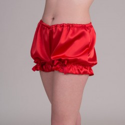 Red satin bloomers - side