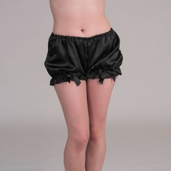 Black satin bloomers
