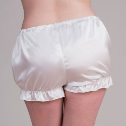 White satin bloomers - back