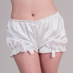 White satin bloomers - front