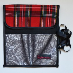 Tartan brush case