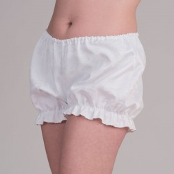 White jacquard bloomers -side