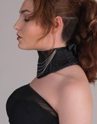 Original accessories such as neck corsets, hairpieces and eye patches